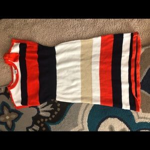 Orange, Navy, white,  Gold Gymboree Dress size 10